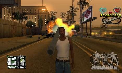 C-HUD New Liberia pour GTA San Andreas deuxième écran