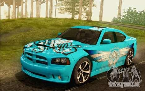 Dodge Charger SRT8 2006 pour GTA San Andreas vue de dessous