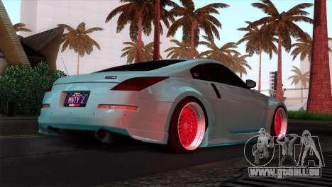 Nissan 350Z Minty Fresh pour GTA San Andreas salon