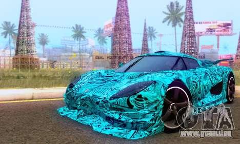 Koenigsegg One 2014 für GTA San Andreas Innen