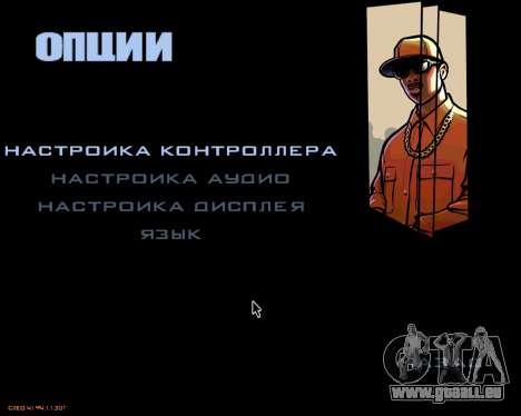 Das Menü des mobilen version des Spiels für GTA San Andreas dritten Screenshot