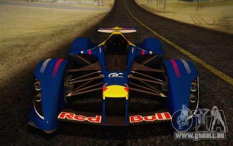 GT Red Bull X10 Sebastian Vettel pour GTA San Andreas sur la vue arrière gauche