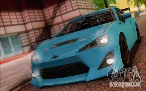 Scion FR-S 2013 Beam pour GTA San Andreas sur la vue arrière gauche