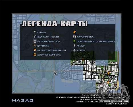 Symbole radar der mobile-version des Spiels für GTA San Andreas zweiten Screenshot