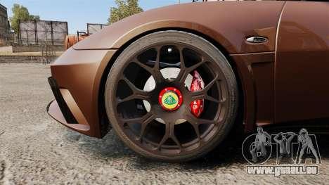 Lotus Evora GTE Mansory pour GTA 4 Vue arrière