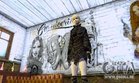 Das blonde Mädchen in schwarzer Kleidung für GTA San Andreas