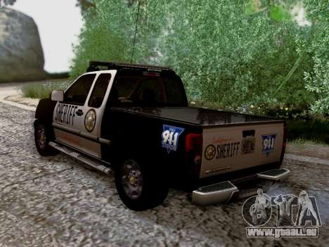 Chevrolet Colorado Sheriff pour GTA San Andreas salon