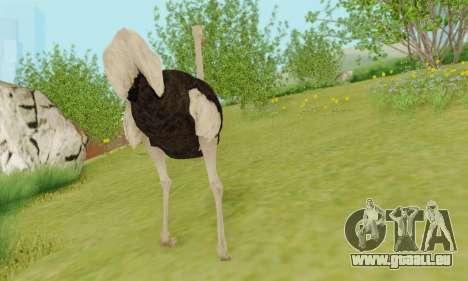 Ostrich From Goat Simulator pour GTA San Andreas cinquième écran