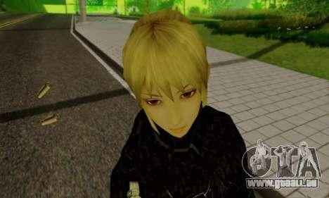 Das blonde Mädchen in schwarzer Kleidung für GTA San Andreas neunten Screenshot