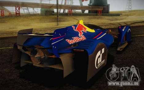 GT Red Bull X10 Sebastian Vettel pour GTA San Andreas vue arrière