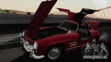Mercedes-Benz 300SL 1955 pour GTA San Andreas vue intérieure