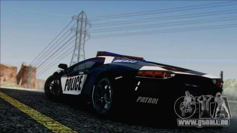 Lamborghini Aventador LP 700-4 Police für GTA San Andreas Motor