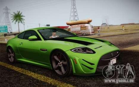 Jaguar XKR-S GT 2013 für GTA San Andreas zurück linke Ansicht