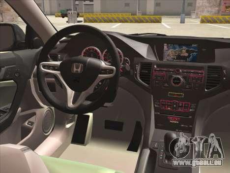 Honda Accord 2009 für GTA San Andreas Unteransicht