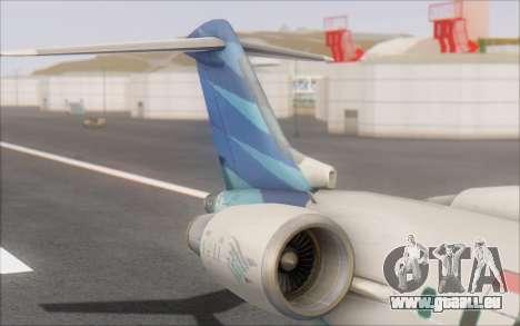 Garuda Indonesia Bombardier CRJ-700 für GTA San Andreas zurück linke Ansicht