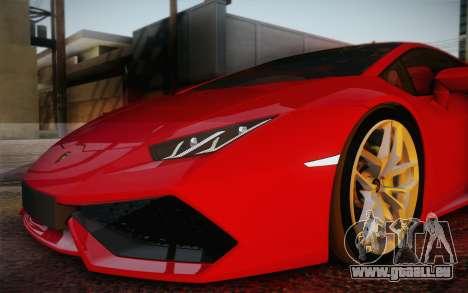Lamborghini Huracan 2013 für GTA San Andreas Räder