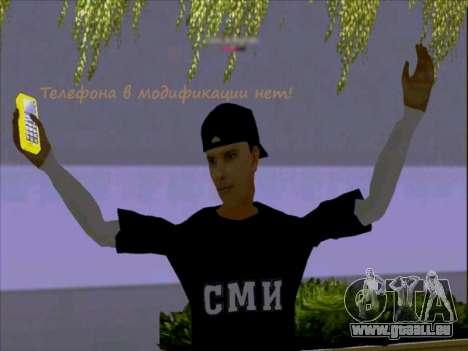 Haut-media-Arbeiter für GTA San Andreas dritten Screenshot