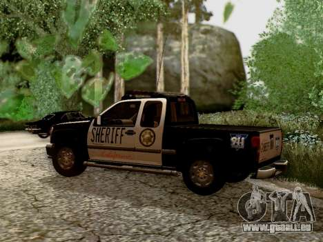 Chevrolet Colorado Sheriff für GTA San Andreas linke Ansicht