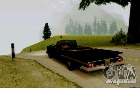 Voodoo Convertible (version avec des phares) pour GTA San Andreas laissé vue