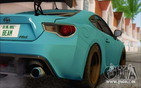 Scion FR-S 2013 Beam für GTA San Andreas Rückansicht