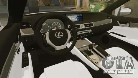 Lexus GS 300h pour GTA 4 est une vue de l'intérieur