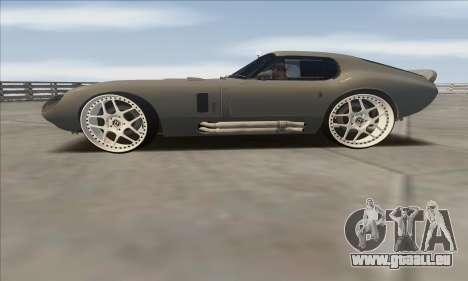 Shelby Cobra Daytona pour GTA San Andreas sur la vue arrière gauche