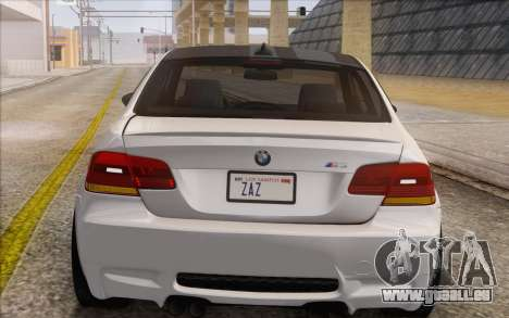 BMW M3 E92 2008 für GTA San Andreas Innenansicht