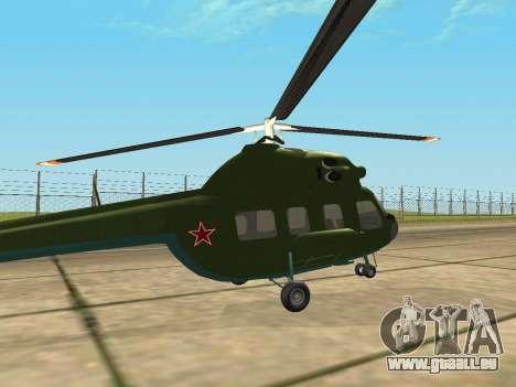 Mi 2 militärischen für GTA San Andreas rechten Ansicht