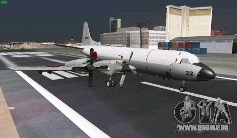 Lockheed P-3 Orion FAJ pour GTA San Andreas vue de dessus