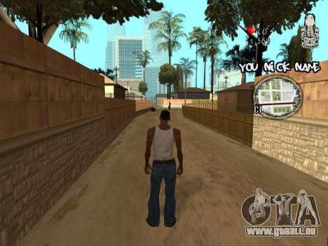 C-HUD by San4os pour GTA San Andreas deuxième écran
