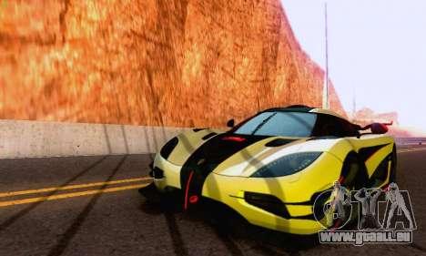 Koenigsegg One 2014 pour GTA San Andreas sur la vue arrière gauche