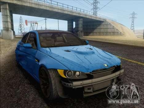 BMW M3 E92 2008 pour GTA San Andreas vue de dessous