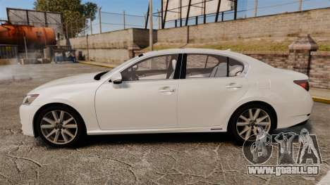 Lexus GS 300h für GTA 4 linke Ansicht