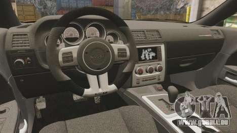 Dodge Challenger SRT8 2012 pour GTA 4 est une vue de l'intérieur