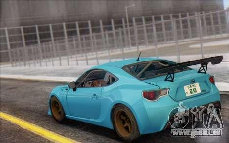 Scion FR-S 2013 Beam pour GTA San Andreas vue intérieure
