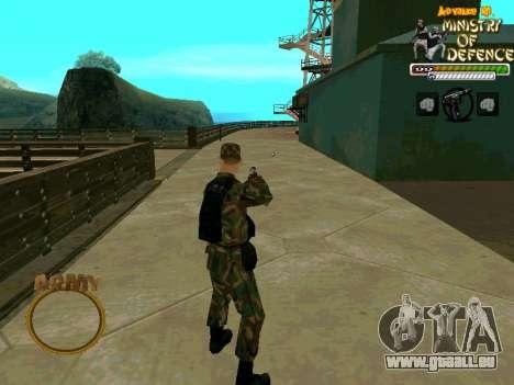 C-HUD Army pour GTA San Andreas troisième écran