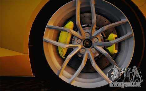Lamborghini Huracan 2013 für GTA San Andreas Rückansicht