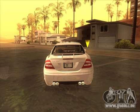 Mercedes CLK 500 из NFS most Wanted pour GTA San Andreas vue de droite