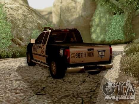 Chevrolet Colorado Sheriff für GTA San Andreas zurück linke Ansicht