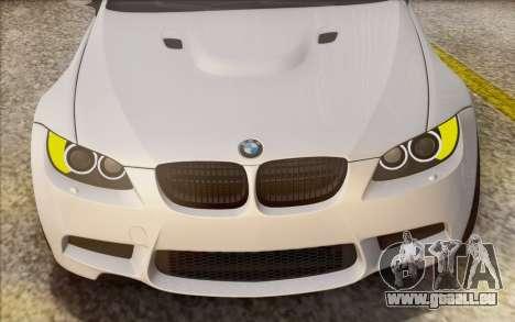 BMW M3 E92 2008 pour GTA San Andreas vue de dessus