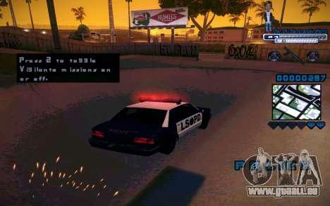 C-HUD One Of The Legends Ghetto pour GTA San Andreas cinquième écran