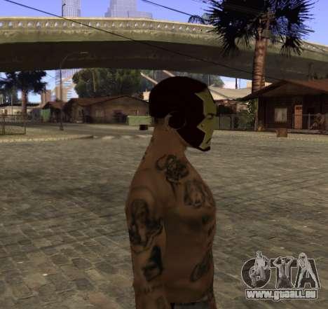 Masque d'Iron Man pour les CJ pour GTA San Andreas troisième écran