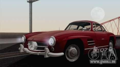Mercedes-Benz 300SL 1955 pour GTA San Andreas sur la vue arrière gauche