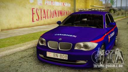 BMW 120i SE Carabinieri pour GTA San Andreas