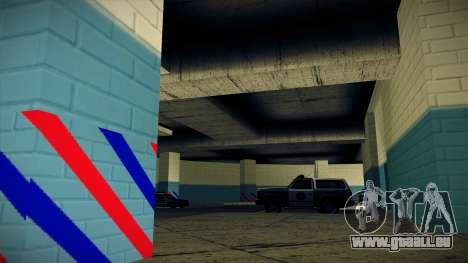 Nouveau garage LSPD pour GTA San Andreas quatrième écran