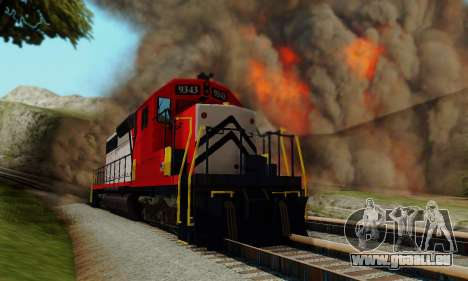 GTA V Trem pour GTA San Andreas vue de droite