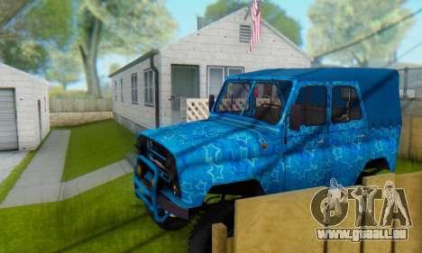 UAZ 469 Blue Star für GTA San Andreas Innen