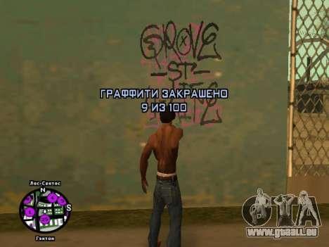 Tags Map Mod v1.2 pour GTA San Andreas quatrième écran