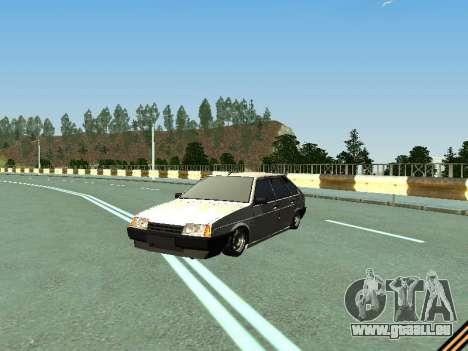 VAZ 2109 pour GTA San Andreas vue de dessus