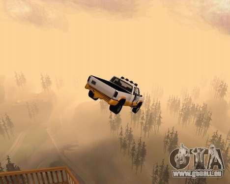 Nouveau Pick-Up pour GTA San Andreas vue de dessus